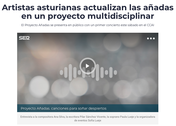 ENTREVISTA LA SER ALICIA ALVAREZ 11 DE SEPTIEMBRE 2019 : 1